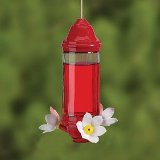 Crystal Lantern Glass Hummingbird Feeder