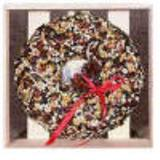Merry Berry Seed Wreath in wooden crate